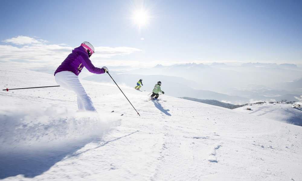 In den Winterferien in Südtirol können Sie nach Herzenslust Skifahren